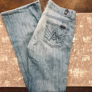 7 for All Mankind Light Wash A Pocket Jeans